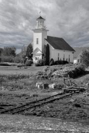 Maine-Church-b-w