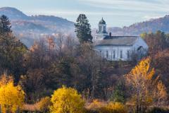 Church in Argyle New York in Autumn
