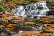 Beecher Creek Falls in Autumn