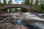 Adirondack Bog River Falls Outside of Tupper Lake New York